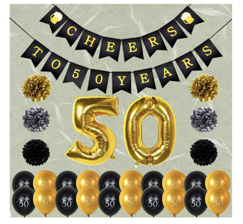 50th Birthday Party Decorations For Women Balloons Happy