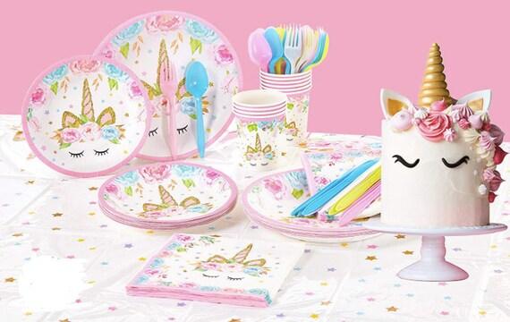 UNICORN THEME PARTY Unicorn Party Unicorn Birthday Decorations Party  Supplies Unicorn Birthday Unicorn Tableware Unicorn Party Decorations