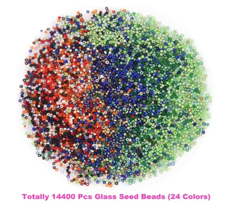 Glass Seed Beads Small Craft Beads DIY Bracelet Necklaces Crafting Jewelry Making Supplies DIY Bracelet Necklaces Jewelry Making Supplies