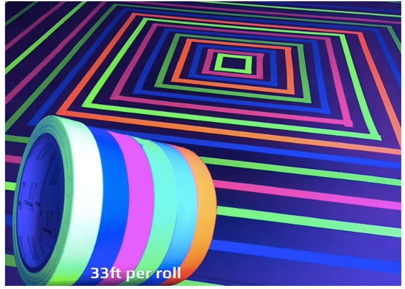 Blacklight GLOW PARTY TAPE Blacklight Party Glow in the Dark Party Glow in the dark party neon party 80/'s party glow in the dark birthday