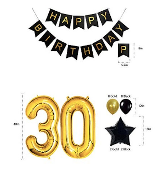 30th Birthday Decorations Party Supplies Him Her Men Women Dirty 30 Backdrop Sash Happy Banner