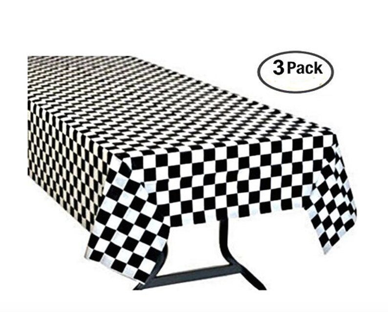 Charmant Checkered Racing Tablecloth Black White Checkered Flag Table Cover Racing  Theme Tablecloth Checkered Flag Tablecloth