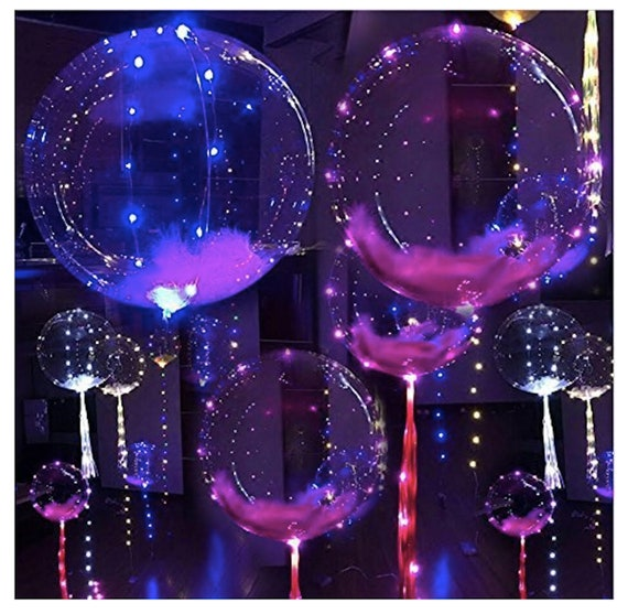 Fillable with Helium 18 inch 10 PCS Led BoBo Balloon Lights For Birthday Wedding Christmas Party Decorative Lasts 72 hours