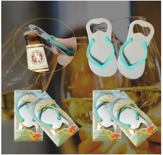 24 Beach Wedding Favors Summer Party Favors Flip Flop Bottle Openers Beach Theme Party Favors Destination Wedding Decorations Party Favors