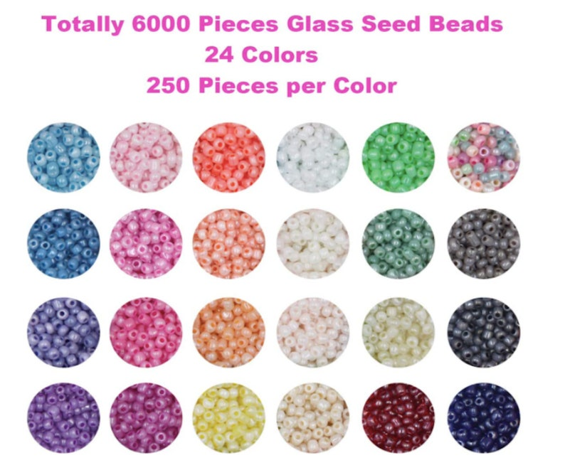 Jewelry Beads Making Kit Glass Seed Beads Small Craft Beads Small Beads for DIY Bracelet Necklaces Crafting Jewelry Making Supplies