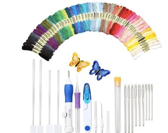 Embroidery Pen Punch Needles Embroidery Threaders Embroidery Pen Set Craft Tool Knitting Sewing Tool embroidery needle stitching magic pen