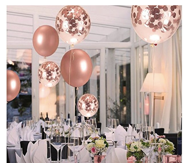 Birthday Party Decorations Rose Gold Supplies Balloons Happy Balloon 21st