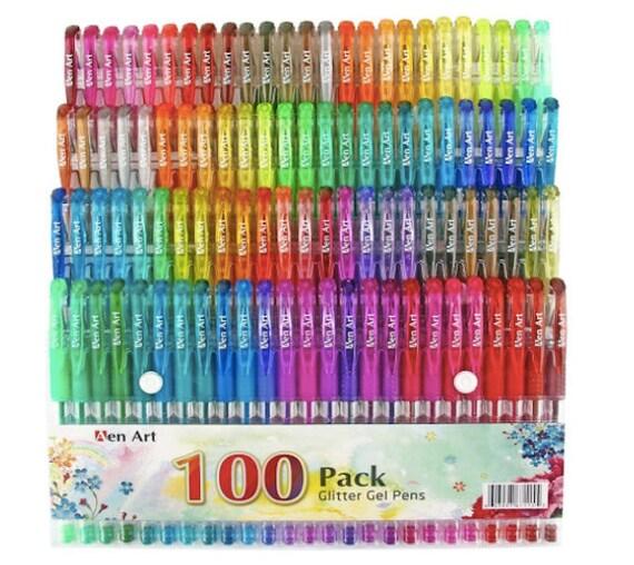 Coloring pens Gel Pens Glitter Craft Pens Multicolor Journal | Etsy