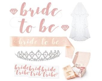 Rose Gold Pink Bachelorette Party Decorations Bridal Shower Supplies Bride to Be Sash Bride Tribe Tattoos Bachelorette Party Decorations