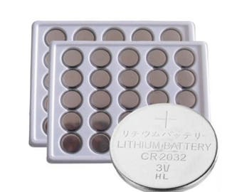 50 Pack CR2032 Lithium Battery used in calculators, cameras, watches, LED tealight candles, remote controls and many toys