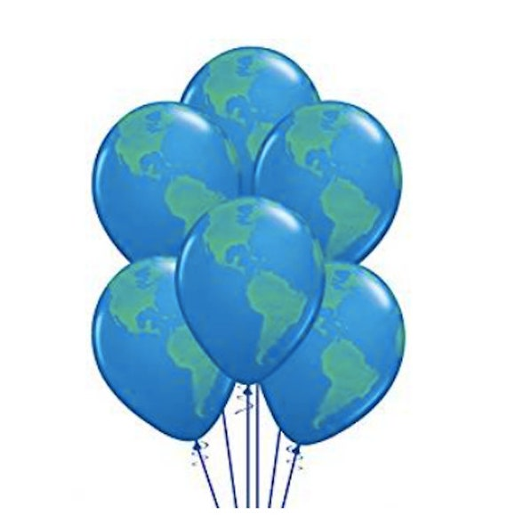 Earth Balloons Going Away Party Planet Earth Balloons 11 Latex Globe World Outer Space Birthday Party Decorations Travel Theme Baby Shower