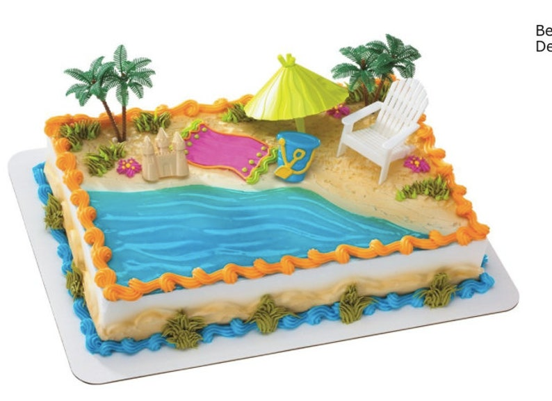 Beach Cake Decorations Party Topper Hawaiian