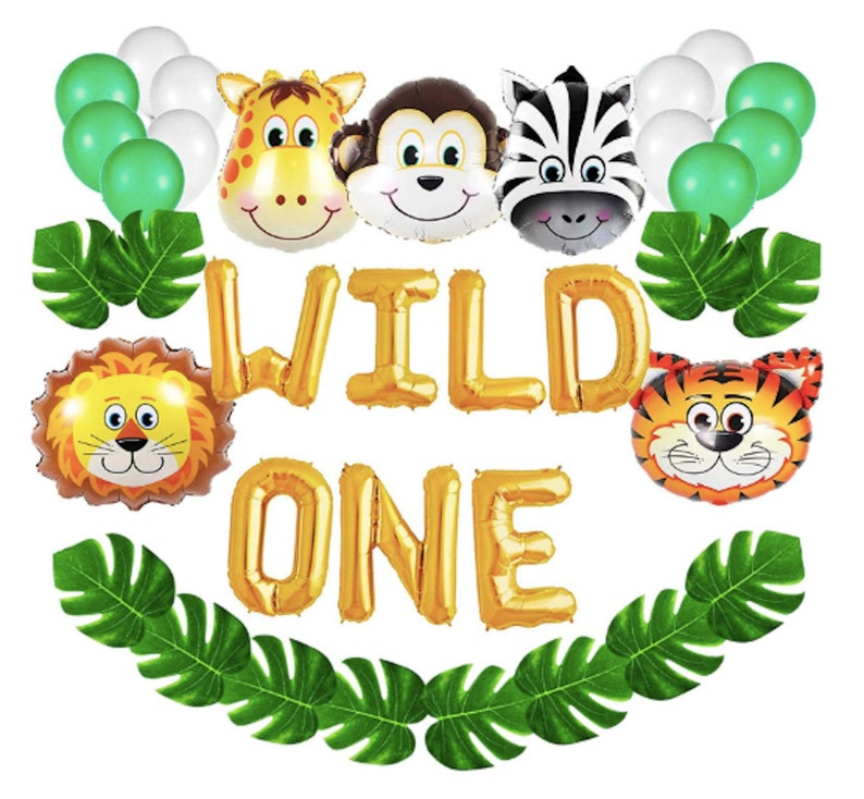 Wild One Balloons Party Decorations Kit 1st