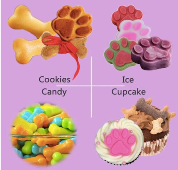 6 1 Fairy Fées bonbon au chocolat cuisson moule silicone Cookie Gâteau Fête Sac