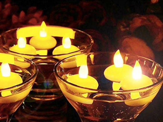 Great Float On Water Flameless Tealights Battery Operated Floating Ideas