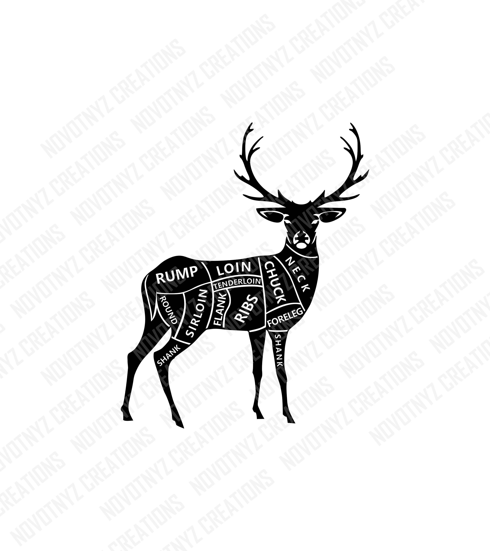 Deer Meat Cuts Svg Butcher Svg Hunting Svg Deer Etsy