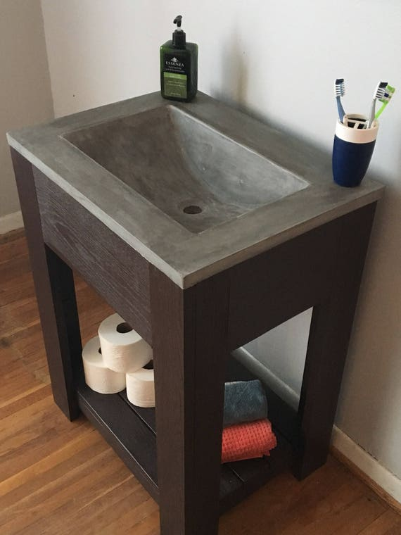 Bathroom Vanity With Concrete Vanitytop