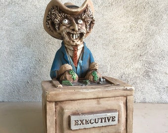 Cowboy Sculpture by Bill Vernon, Collectors Society, Gift for Boss Gift Coworker Gift, Retirement Party, Shade Tree Creations, Cowboy Statue