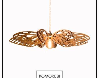 Komorebi DragonFly Lasercut Wooden Pendant Lamp