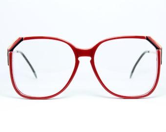 4b0c4c2554b86b Square Marcolin Oversized XL Red Vintage Brille Eyeglasses Lunettes  Occhiali Gafas Bril Free Shipping