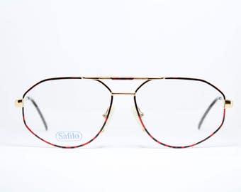4d8d91de8056 SAFILO Aviator True Vintage Brille Eyeglasses Lunettes Occhiali Gafas  SPORTING D104 56-14 Frame Italy
