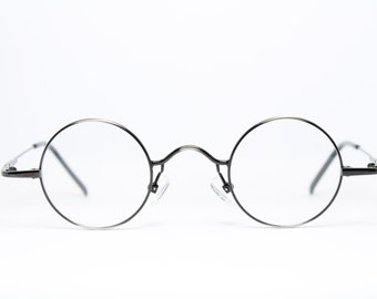 152b120b545 38-26 AS MEG Germany Round Small Lenses Vintage Brille Eyeglasses Lunettes  Occhiali Gafas Original 16010R J. Lennon-Styl Glasses