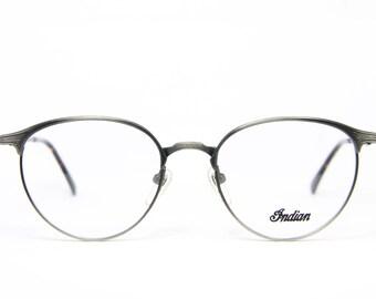 5ab5c4414dc Anique INDIAN 1901 Vintage Brille Eyeglasses Frame Occhiali Lunettes Gafas  Bril Free Shipping