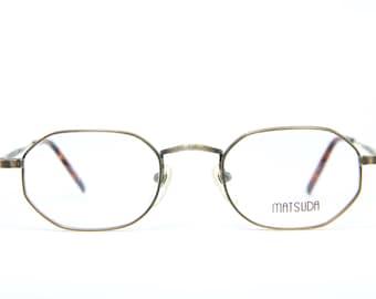 13f60cad91e Antique MATSUDA 10105 AG Vintage Brille Eyeglasses Frame Occhiali Lunettes  Gafas Bril Free Shipping