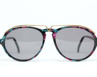 53b375dc08 Quintessenz Multicolor True Vintage Sunglasses Sonnenbrille Occhiali Gafas  112-002 Made in France Small