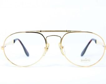 2c904976dc314 XL ETTORE BUGATTI 11844 58-20 Original Vintage Brille Eyeglasses Occhiali  Lunettes Gafas Bril Free Shipping