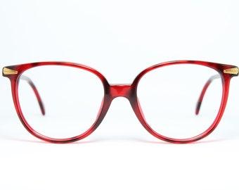 0dd3eb23ce8977 Luxottica Rare Vintage Red Brille Eyeglasses Occhiali Lunettes Gafas Bril  4187 Free Shipping