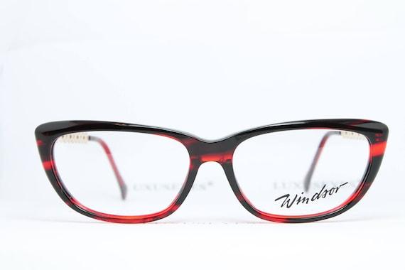 2daf446f9724c2 WINDSOR Red-Black-Gold True Vintage Brille Eyeglasses Lunettes