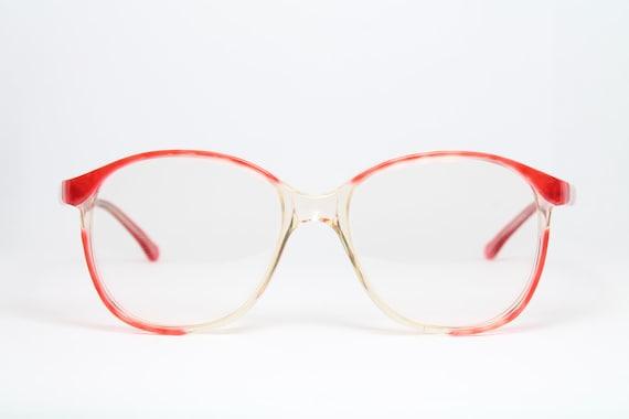 36036faee51fd2 MARINO Big Red-Gradient Vintage Brille Eyeglasses Occhiali