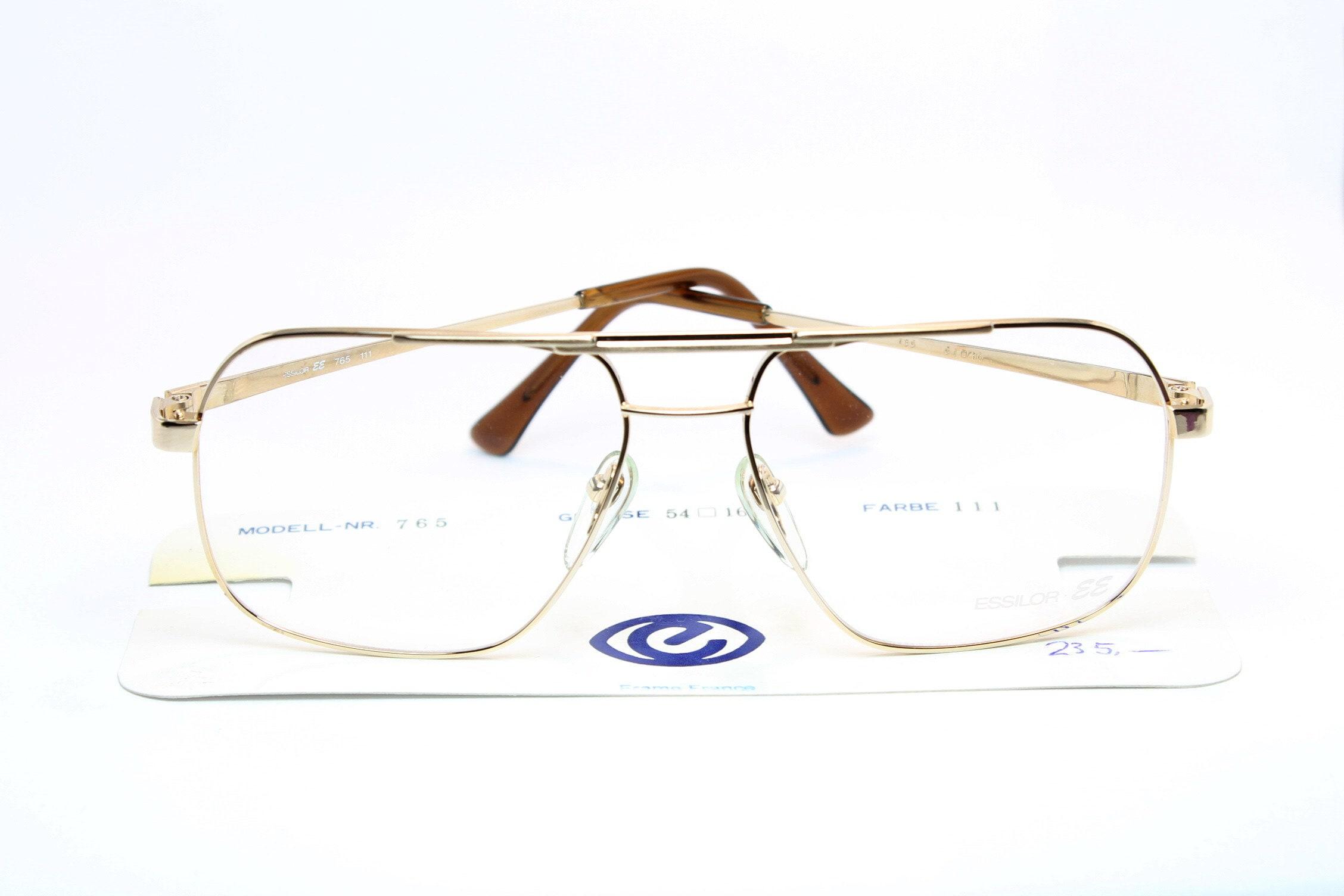fc5fff644fa 18K Gold ESSILOR Aviator Square Vintage Brille Eyeglasses
