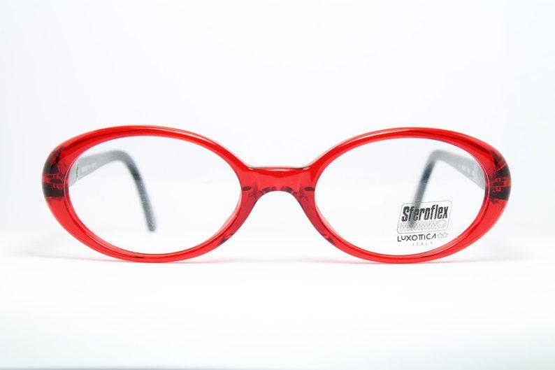 b4497b3cdc9003 STEROFLEX Red Oval Vintage Brille Eyeglasses Occhiali Lunettes