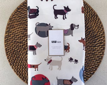 Cotton Drill fitted sheet - Dogs parade - for Stokke, Boori, Kaylula and etc