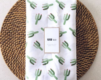 Cotton Drill fitted sheet - Cactus