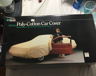 Rubber queen on the road deluxe poly-cotton car cover mew in original box