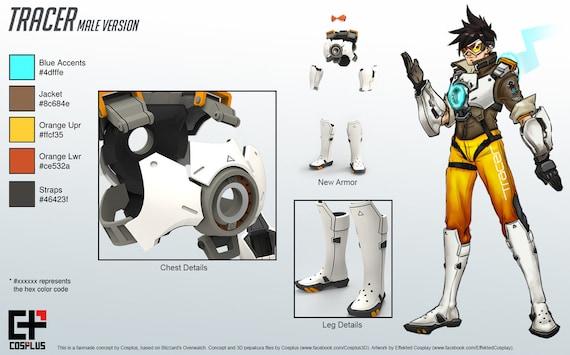Male Tracer's Armor Pepakura Set