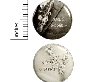 Wedding Reception Buttons 2-Pack // Cheap Table Favors // Elegant Pins Set of 2 // 1 Inch Pins 12-19-31