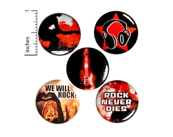 Music & Band Pin Buttons