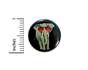 Elephant In Sunglasses Funny Button Random Humor Geekery Geeky Nerdy Fun 1 Inch #35-16