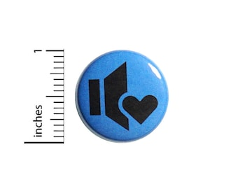 Volume Love Button Turn It Up Loud Music Cool Backpack Jacket Pin 1 Inch #47-30
