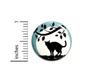 Cat Backpack Pin Cat Full Moon Button Cool Lapel Pin Badge Brooch Kitty Little Cat Lover Gift  1 Inch #62-24
