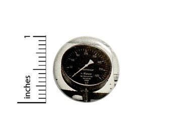 Dieselpunk Speedo Speedometer Button // Backpack or Cosplay Pinback // Steampunk Vintage Gauge Pin // 1 Inch 15-26