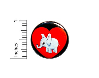 """Cute Baby Elephant Button Pin or Fridge Magnet, Baby Elephant Pin Button or Magnet, Cute Elephant Gift, Birthday Gift, Adorable, 1"""" 86-12"""