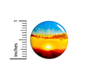 Sunset Button Backpack Pin Adventure Travel Traveling Horizon Adventurer Backpacking Photography Photographer Gift 1 Inch #65-4