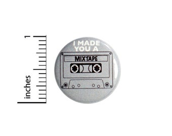 Mix Tape Old School Cassette Backpack Jacket Pin Nerdy Awesome 90's 1 Inch #38-24
