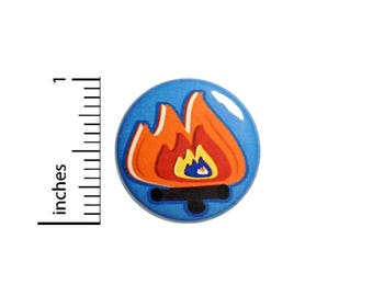 Cool Campfire Bonfire Button Badge Camping Backpack Jacket Pin Pinback 1 Inch #50-8 -