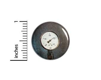 Steampunk Gauge Button //  Backpack or Jacket Lapel Pin // Button Dieselpunk // Pinback 1 Inch 3-27